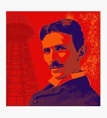 Nikola Tesla by popartworks Photographic Print