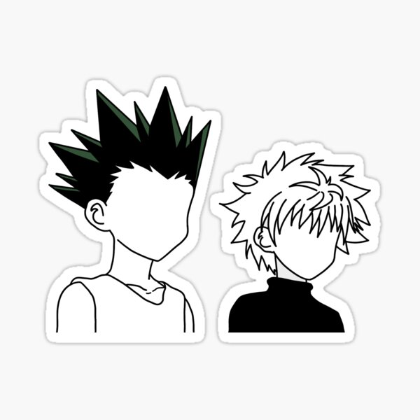 Killua Zoldyck and Gon Freeces with color Sticker