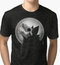 Skull Wolf Howl Tri-blend T-Shirt