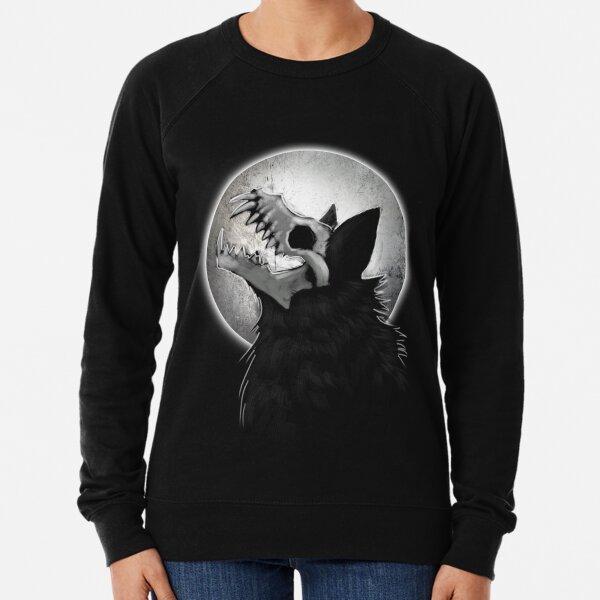 Skull Wolf Howl Lightweight Sweatshirt