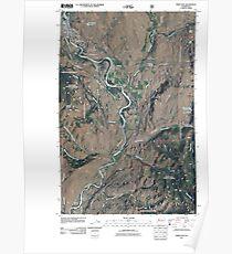 USGS Topo Map Washington State WA Twisp East 20110427 TM Poster