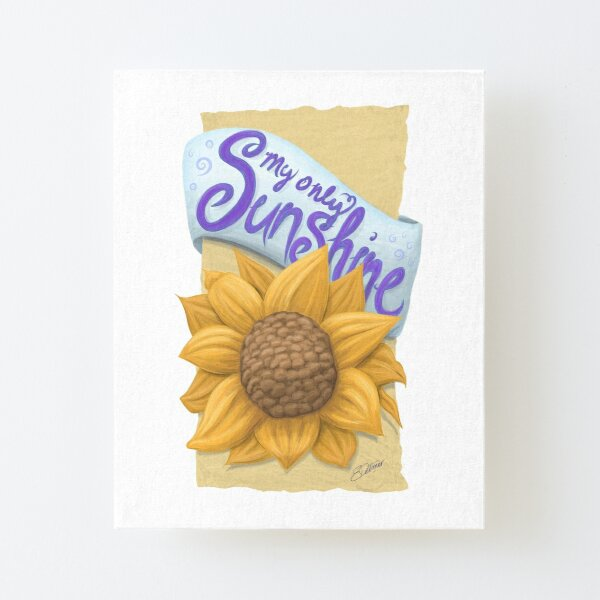 My Only Sunshine Canvas Mounted Print