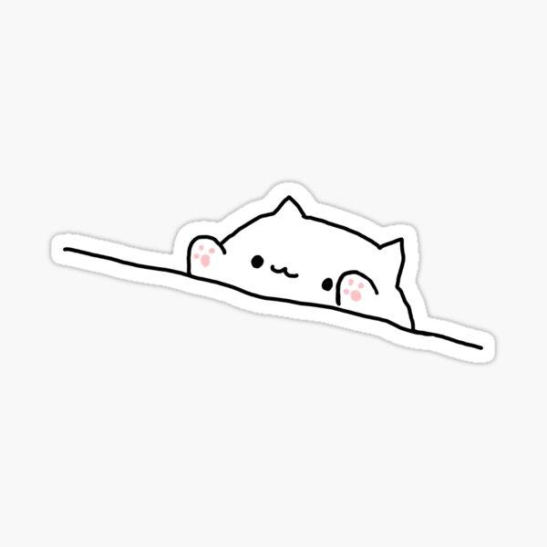 BONGO CAT - SAD JAPANESE ANIME AESTHETIC Sticker