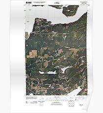 USGS Topo Map Washington State WA Union 20110418 TM Poster