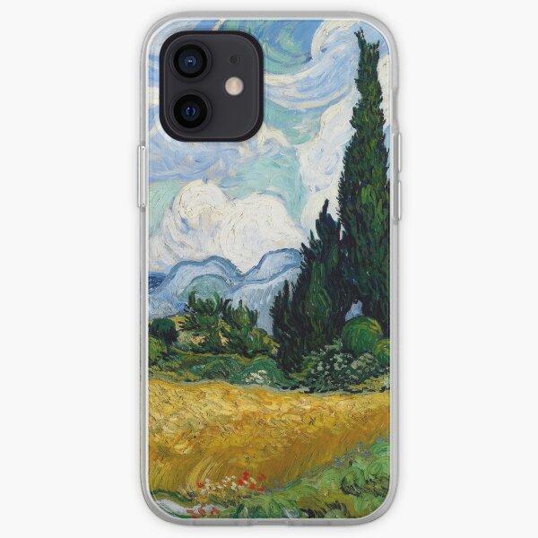 Champ de blé avec des cyprès par Vincent van Gogh Coque souple iPhone