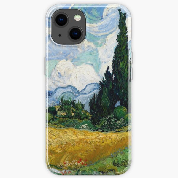 Wheat Field with Cypresses by Vincent van Gogh iPhone Soft Case