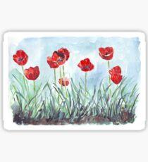 Poppies mean Spring! Sticker