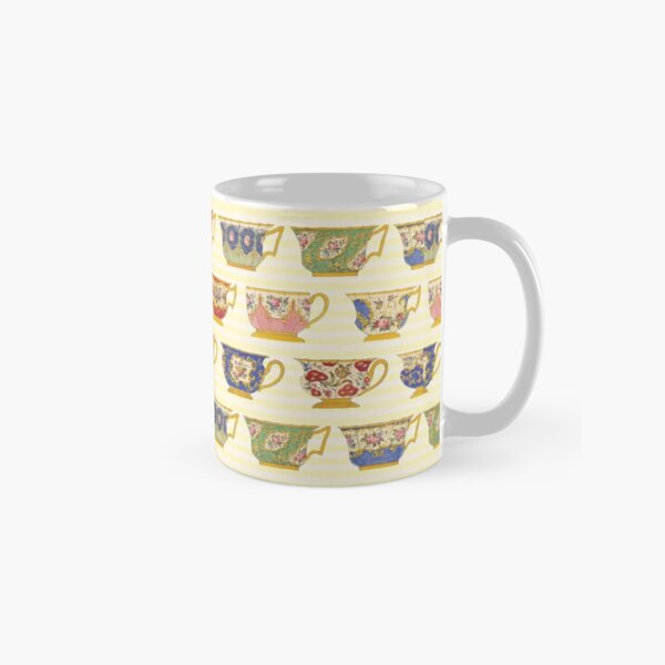 Vintage Porcelain/China Teacup Pattern  Classic Mug