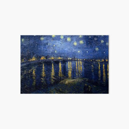 Starry Night Over the Rhone by Vincent van Gogh Art Board Print