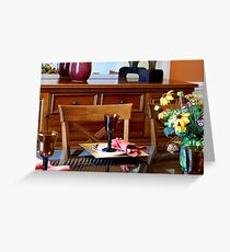 Table Setting    ^ Greeting Card