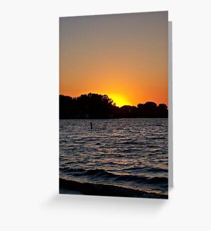 Twilight Oasis Greeting Card