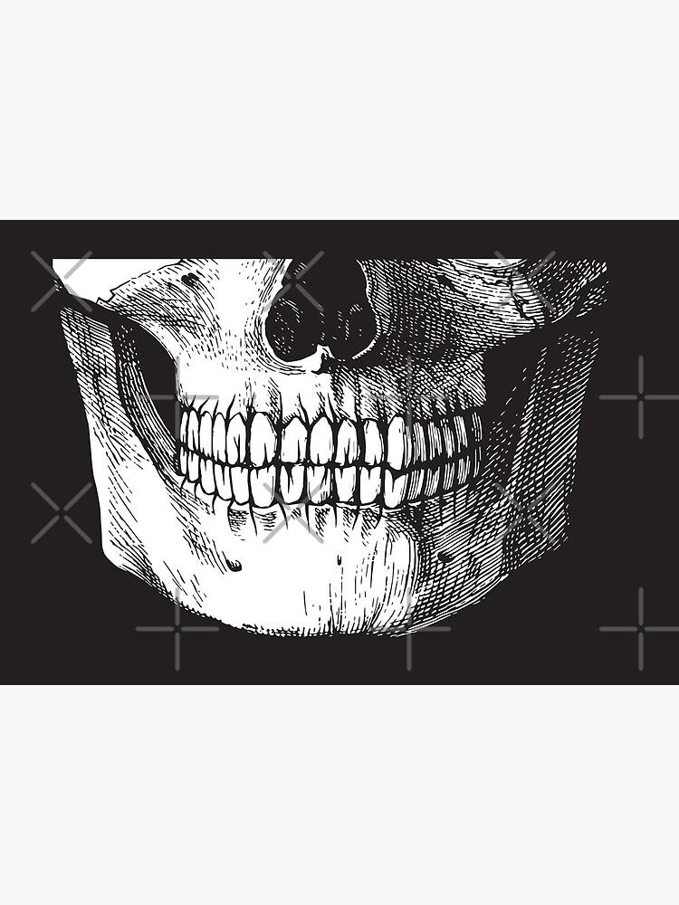 Black ink skull by GrayHareCards