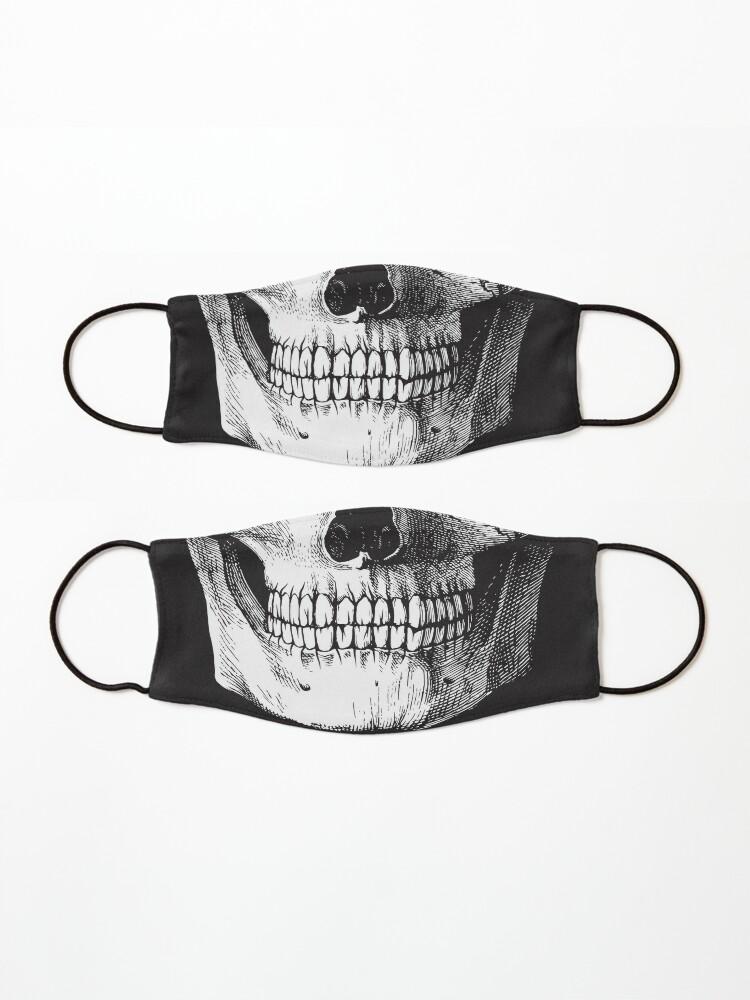 Alternate view of Black ink skull Mask
