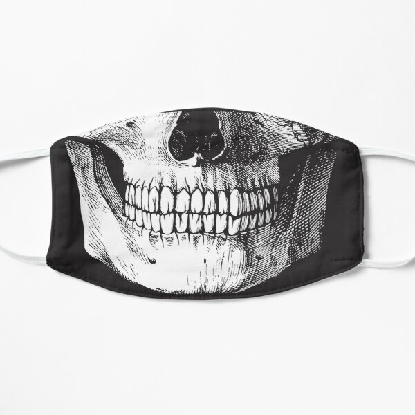 Black ink skull Mask