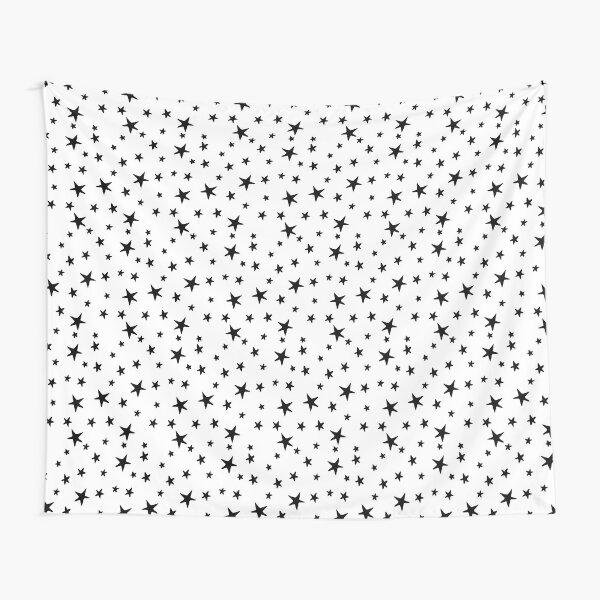 Mini Stars - Black on White Tapestry