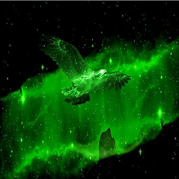 Space Eagle Spirit - Green by Nate4D7