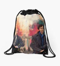 Watson & Sherlock Drawstring Bag