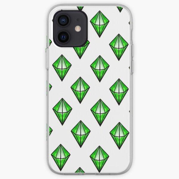 Green Diamond Similar 2 iPhone Soft Case