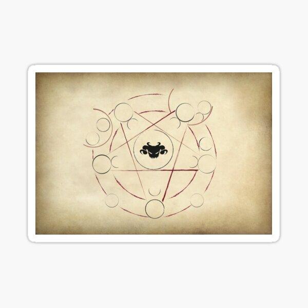 Shadow of the Demon Lord Unholy Symbol - Black Skull Sticker