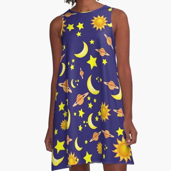 Let's Get Lost in Space! A-Line Dress
