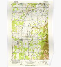 USGS Topo Map Washington State WA Sumas 244115 1952 24000 Poster