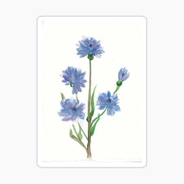Cornflower Glossy Sticker