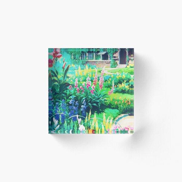 Anime Flowers Landscape Acrylic Block