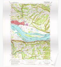 USGS Topo Map Washington State WA Washougal 244544 1961 24000 Poster