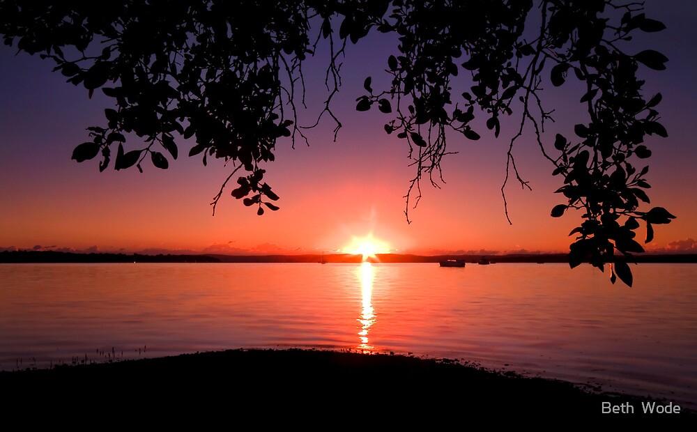 Redland Sunrise - Victoria Point Qld Australia by Beth  Wode