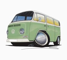 VW Bay Window Camper Van Light Green