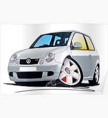 VW Lupo GTi Silver Poster