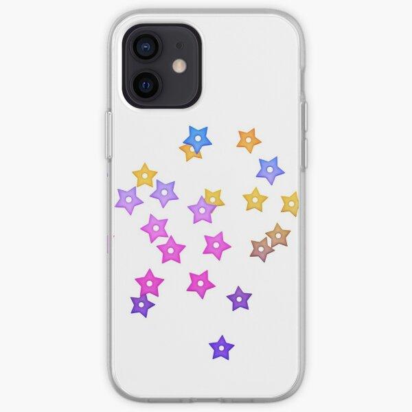 Multi Colour Rainbow Stars iPhone Soft Case
