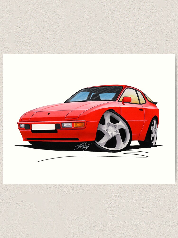 Porsche Boxster Caricature Sports Car Art Print 986