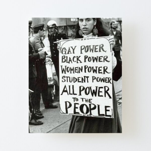 All Power To The People! Canvas Mounted Print