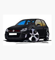 VW Golf GTi (Mk6) Black Photographic Print