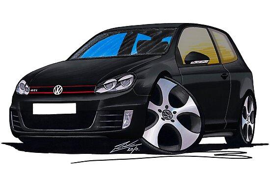 VW Golf GTi (Mk6) Black by Richard Yeomans