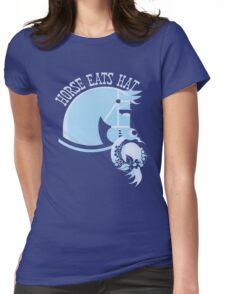 Horse Eats Hat (Blue) Vintage Poster T-Shirt