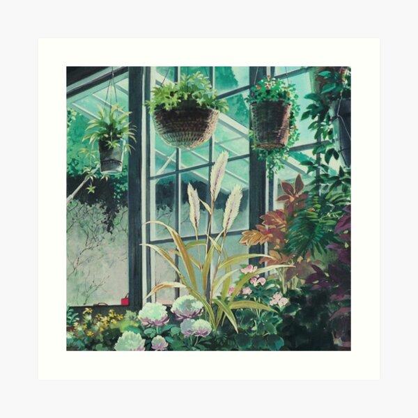 Paysage de plantes anime Impression artistique