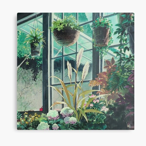 Anime Plants Scenery Metal Print