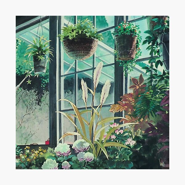 Anime Plants Scenery Photographic Print