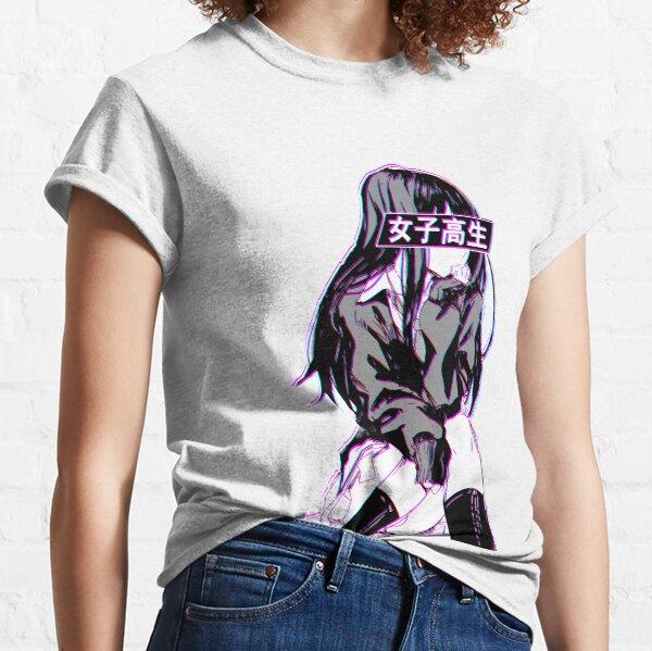 SCHOOLGIRL GLITCH - SAD JAPANESE ANIME AESTHETIC Classic T-Shirt