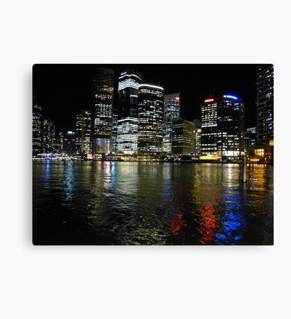 Brisbane by night Canvas Print