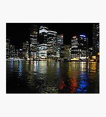Brisbane by night Photographic Print