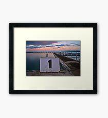 No. 1, Merewether Ocean Baths Framed Print