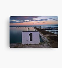 No. 1, Merewether Ocean Baths Canvas Print