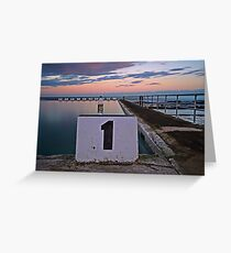 No. 1, Merewether Ocean Baths Greeting Card