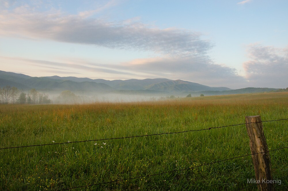 Fenced In, Cades Cove, Smoky Mountains National Park by Mike Koenig