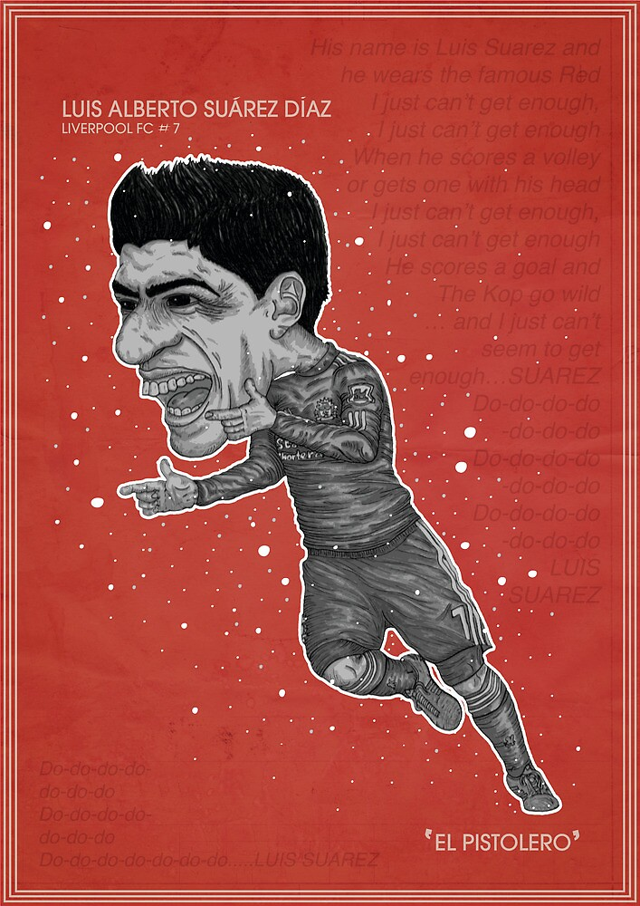 Luis Suarez Poster by Sean Biggs