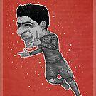 Luis Suarez Poster by Sean Biggs