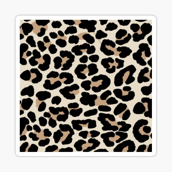 Cheetah Print Sticker